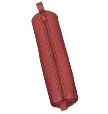 Schlamperrolle rot 21x6cm Leder