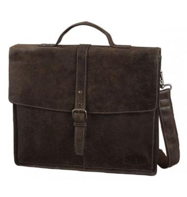 PRIDE&SOUL Businesstasche LUCKY, braun, Leder mit Schnallenverschluss