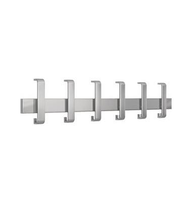 Wandgarderobe Arosa 6405, Metall, mit 12 Haken, silber, 1 Stück
