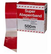 Signal-Absperrband 80mm x 500m  rot/weiß nichtklebend