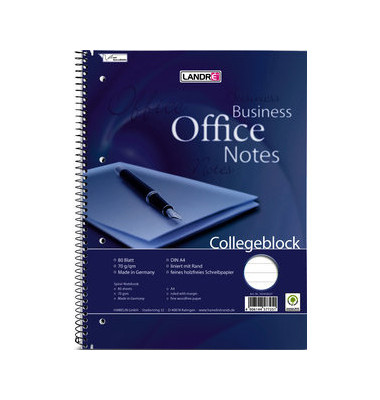 Collegeblock Office 355408027, A4+ liniert, 70g 80 Blatt, 4-fach-Lochung