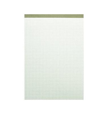 Notizblock o.Deckblatt gefälz. grau A4/50Bl 60g