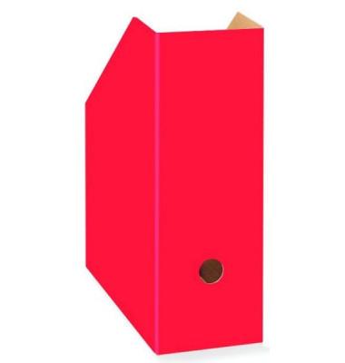 Stehsammler Color 105 x 260 x 310mm A4 extra breit Hartpappe rot