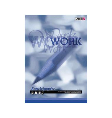 Kanzleipapier WORK A3 auf A4 gefalzt liniert ohne Rand weiß planliegend 500 Blatt