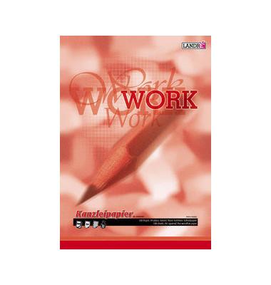 Kanzleipapier WORK A3 auf A4 gefalzt kariert ohne Rand weiß planliegend 500 Blatt