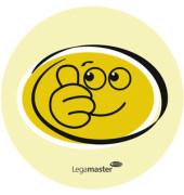 Moderationskarten Emoticons gelb lach.+traur. 100 St