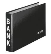 Bankordner 1002 schwarz 20mm-2-Ring-Mechanik mit Aufschrift BANK