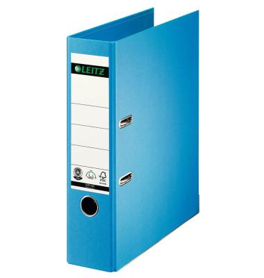 180° 10070030 Qualitäts-Vollpapier hellblau Ordner A4 80mm breit