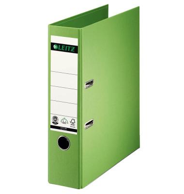 180° 10070050 Qualitäts-Vollpapier hellgrün Ordner A4 80mm breit