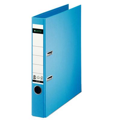 180° 10080030 Qualitäts-Vollpapier hellblau Ordner A4 52mm schmal
