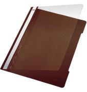 Schnellhefter Standard A4 braun transparenter Vorderdeckel