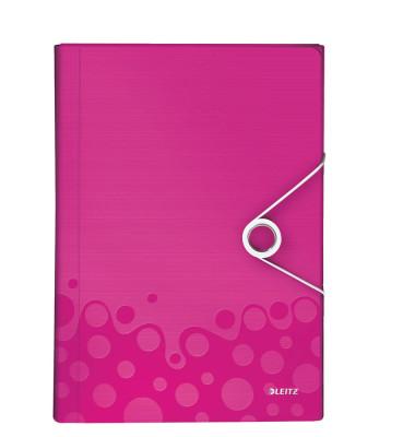 Projektmappe WOW A4 PP pink-met 254x330x38mm