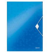 Eckspannermappe PP WOW blau-met 235x320x8 A4