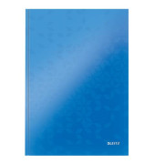 Notizbuch WOW 90g m.Kopfzeile blau A4 80 Bl kariert