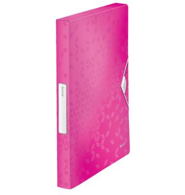 Ablagebox WOW A4 PP 30mm pink-met 250x330x37mm