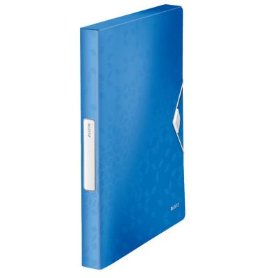 Ablagebox WOW A4 PP 30mm blau-met 250x330x37mm