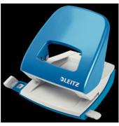 Bürolocher NeXXt Serie Metall hellblau 30 Blatt CI Farbe