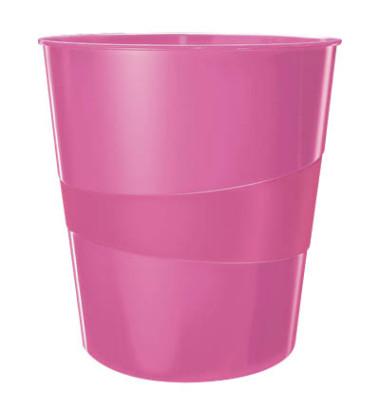 Leitz Papierkorb 5278 WOW 15 Liter pink metallic