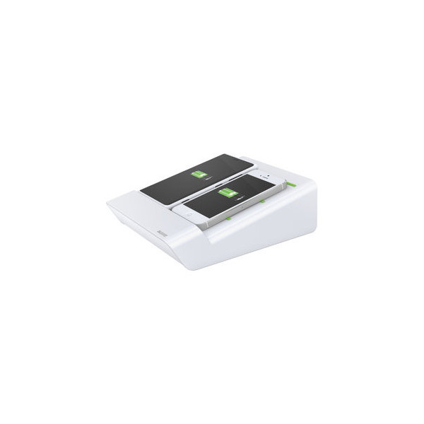Leitz Duo-Ladestation 2Handy/1Tablet weiß 65x153x205mm Complete