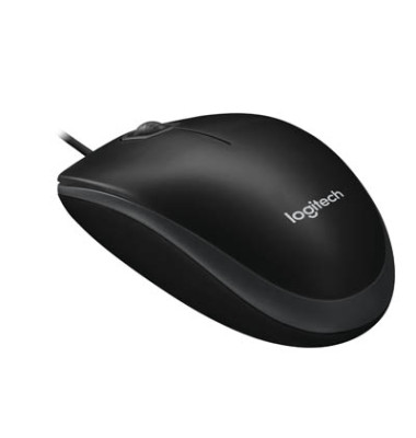 Maus B100 optical USB Mouse schwarz Kabel 1,80m USB 2.0