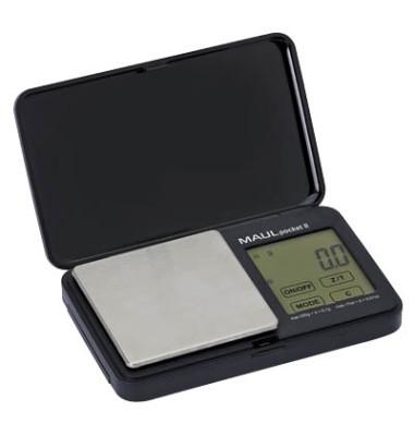 Taschenwaage elekt. bis 500g schwarz 12x7x2cm Tei.0,1g
