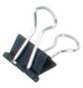Foldbackklammern mauly 214 13mm schwarz Klemmw. 4mm 12 Stück