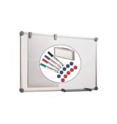 Whiteboard 2000 MAULpro 90 x 60cm kunststoffbeschichtet Aluminiumrahmen inkl. Marker / Magnete + Schwamm