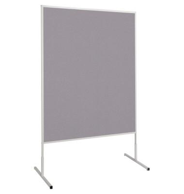 Moderationstafel Standard 636 33 82, 120x150cm, Filz + Filz (beidseitig), pinnbar, grau + grau