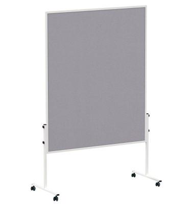 Moderationstafel solid mobil 150 x 120 cm Filz grau