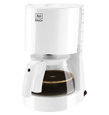 Kaffeemaschine Enjoy II, weiß, Glaskanne für bis zu 10 Tassen,