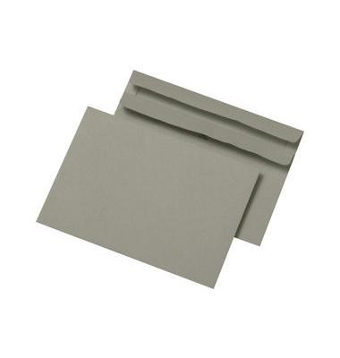Briefumschläge C6 ohne Fenster selbstklebend 75g grau 100 Stück Recycling