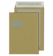Versandtaschen C4 mit Fenster und Papprückwand haftklebend 110g braun 100 Stück
