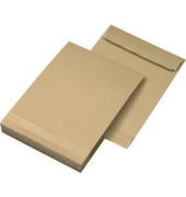 Faltentaschen B4 ohne Fenster 40mm Falte haftklebend braun 10 Stück