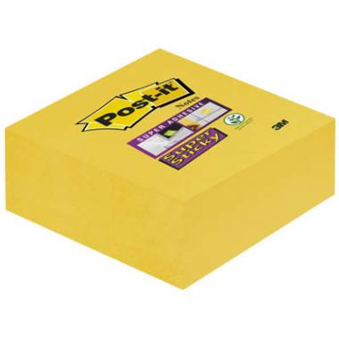 Haftnotizwürfel Super Sticky narzissengelb 76x76mm 270 Bl