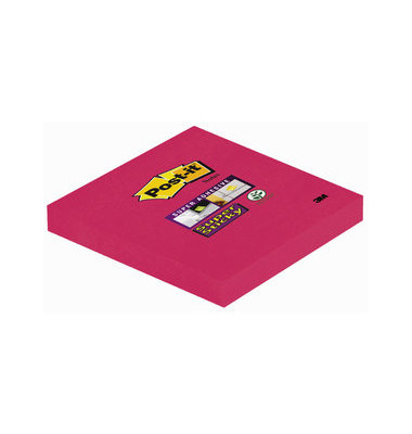 Super Sticky Notes 6546SP mohnrot 76x76mm 1x90 Bl