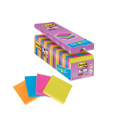 Super Sticky Notes 654SE24P farbig 76x76mm 24x90 Bl