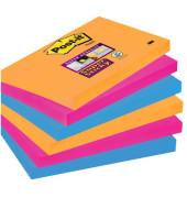 Super StickyNotes 3 Neonfarben OR/PI/BL 127x76mm 6x90 Bl