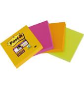 Super Sticky Notes 6910YPOG sortiert 48x48mm 4x45 Bl