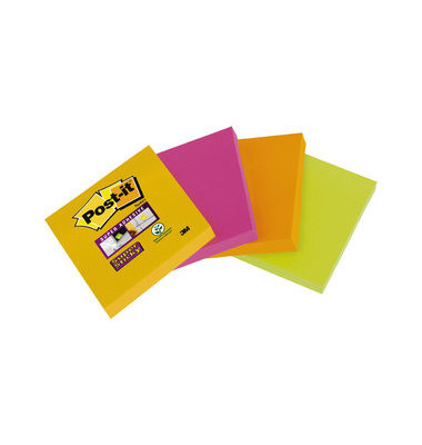 Super Sticky Notes 6910YPOG sortiert 48x48mm 4x45 Bl