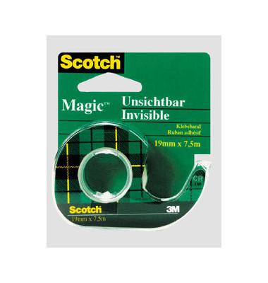 Klebeband Magic Tape 810 12mm x 10m transparent im Abroller grün