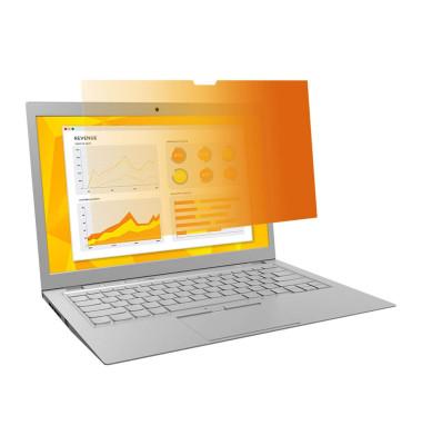 Blickschutzfilt. gold f.Laptop 39,6cm weit 15,6Z