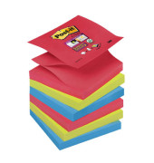 Haftnotiz Super Sticky Z-Notes sortiert 76x76mm 6x90 Bl