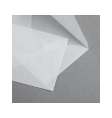 Designbriefumschläge Premium C6 ohne Fenster nassklebend klar 50 Stück