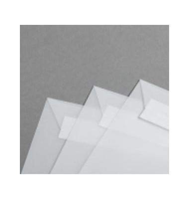 Designbriefumschläge Din Lang ohne Fenster haftklebend 80g klar 50 Stück