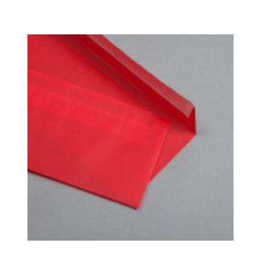 Designbriefumschläge Din Lang ohne Fenster haftklebend 100g rot 50 Stück