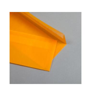 Designbriefumschläge Din Lang ohne Fenster haftklebend 100g orange 50 Stück
