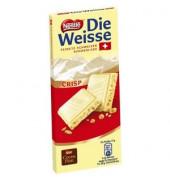 Schokolade Die weisse Crisp Tafel 100g