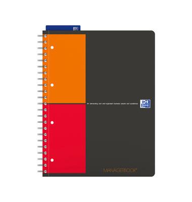 Collegeblock Managerbook 400010756, A4 kariert, 80g 160 Blatt, 4-fach-Lochung, mit Register