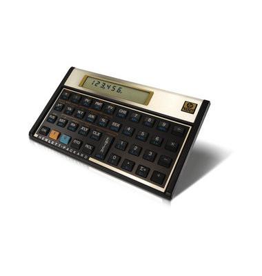 Taschenrechner 12C Platinum,10-stellig schwarz