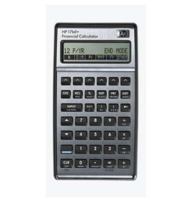 Taschenrechner 17bII+ Batterie LCD-Display anthrazit 2-zeilig 22-stellig